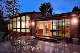 sliding patio door exterior. Window Treatments For Sliding Patio Doors Exterior Contemporary With Concrete Flooring Corner Windows. Image By: Michael Knowles Architect Door