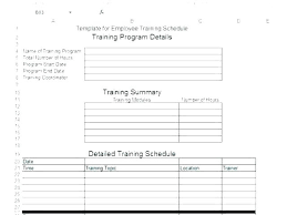 New Employee Training Program Template Employee Training Schedule Template For New Hire Checklist