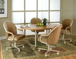 dining room chair casters kitchen chairs with rollers breathtaking sets