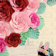 Paper Flower Video Diy Large Rose Giant Paper Flowers For Wedding Backdrops Decorations Paper Crafts Baby Nursery Birthday Video Tutorials