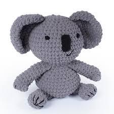 Knitty Critters Crochet Kit KEV KOALA Includes Hooks, Yarn, Stuffing ...