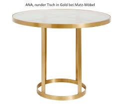 Runder Esstisch Ana Design Bistrotisch Rund In Gold Dunkles