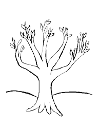 Small Picture Coloring Page Of A Tree Coloring Home
