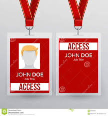 Event Badge Template Press Pass Id Card Vector Plastic Badge Template To Business