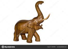 wooden elephant figurine wooden stock photo