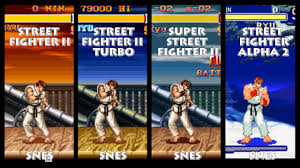 street fighter ii ryu graphic evolution 1992 1996 super nintendo
