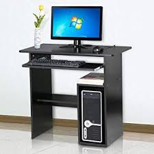 Elegant Tinkertonk Small Computer Desk Home Office Study Desk With Sliding Keyboard  Shelf Black