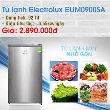 Điện máy XANH (dienmayxanh.com) - Tủ lạnh Electrolux 92 lít EUM0900SA Link  đặt mua: https://www.dienmayxanh.com/tu-lanh/electrolux-eum0900sa