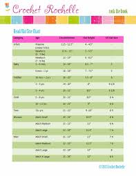 Crochet Size Chart Crochet Rochelle Head Size Chart