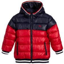 Design Jackets For Boys Mayoral Boys Red Navy Blue White Padded Jacket Jackets