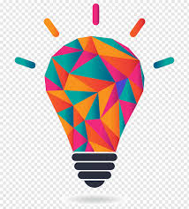 Light Bulb Graphic Multicolored Light Bulb Illustration Graphic Designer Logo