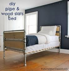 diy pipe fitting bed