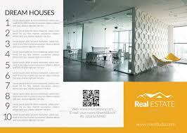 real estate brochure design templates