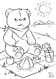 Small Picture Teddy Bears Picnic coloring page Free Printable Coloring Pages