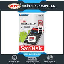 Mã 267ELSALE hoàn 7% đơn 300K] Thẻ nhớ MicroSDXC SanDisk Ultra A1 200GB  Class 10 U1 100MB/s box Anh (Đỏ) - No Adapter - Thẻ nhớ và bộ nhớ mở rộng