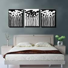 Living Room Art Decor Aliexpresscom Buy 3 Panel Black White Canvas Prints Landscape