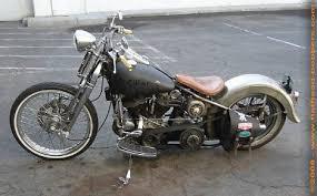 1958 harley flh panhead oldschool bobber bikes pinterest