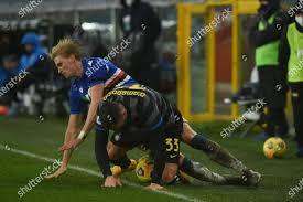 MIKKEL DAMSGAARD Sampdoria Danilo DAmbrosio Inter Editorial Stock Photo -  Stock Image