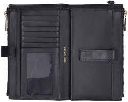 michael kors adele leather smartphone wallet black