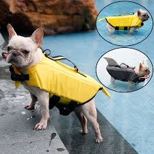 Petlove Dog Harness Size Chart Life Dog Jacket Shark And Duck Design Pet Swimming Vest In