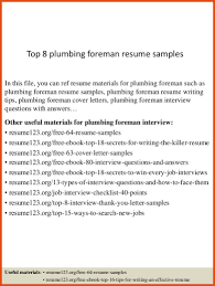 Plumbing Resume Moa Format