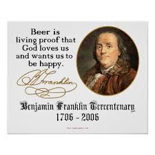Ben Franklin Beer Quote Custom Ben Franklin Beer Poster Zazzle Ben Franklin Beer Quote