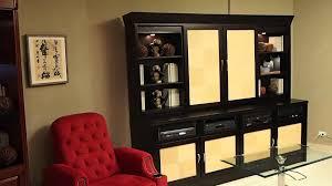 sliding door motorized tv cabinet