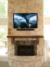 how to mount a flat screen tv over stone fireplace ideas