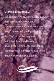 Einladung Zum 80 Geburtstag Sprüche Und Gedichte Als