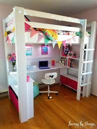 how to build a wooden loft bed with desk and storage for under diy loft bed