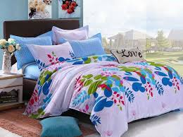 collection in full size bed for girl various colorful beautiful flowers teen girls bedding sets 4pcs