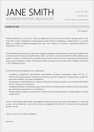 Cover Letter For Management Admin Manager Cover Letter