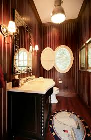 great powder room ideas with black vanity and