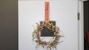 front door wreath hangerDoor  Window Ribbon Wreath Hanger How To  YouTube