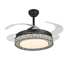 42 inch ceiling fans with lights 3 color dimmable silent fan light with remote control modern chandelier fans light fit for bedroom living room study room