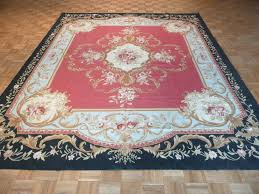 8 6 x 11 2 hand knotted oriental rug chinese aubusson red rustic cottage area rugs