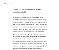 enduring love endings essay