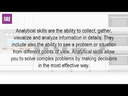 What Is The Meaning Of Analytical Skills Job Hunt Tv