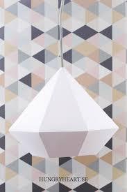 diy diamond pendant light w free template hungry heart