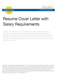 salary requirements in resumes template customer service cover letter sample cover letters salary requirements cover resume salary