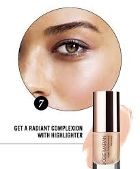 get a radiant plexion with highlighter 8 makeup tips to look younger instantly page 8
