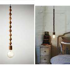 wood bead light fixture awe vintage pendant oak lamp cord the geometric beads string interior design