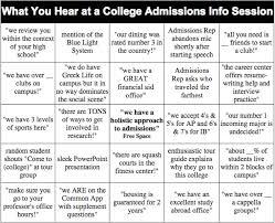 Office Bingo College Admissions Info Session Bingo Hopkins Insider