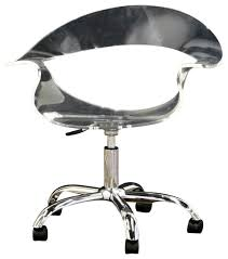 clear office chairs. Baxton Studio Kerr Acrylic Swivel Chair In Clear Office Chairs Z