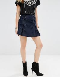 Free People Skirt Size Chart Free People Lace Up Denim Skirt Dark Women Free People Shoes
