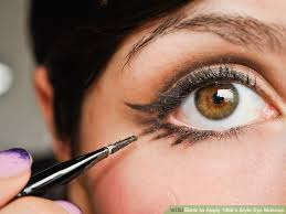 image led apply 1960 s style eye makeup step 14