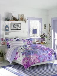 Lovable Teen Girl Bedroom Decoration With Various Teen Vogue Bedding Ideas  : Impressive Purple Girl Teen