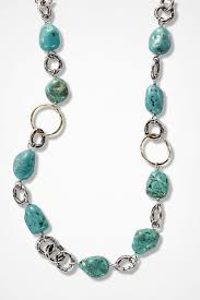into the blue turquoise necklace by peyote bird silver large