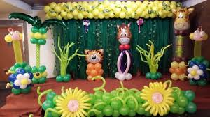 Jungle Theme Balloon Decoration | Mann Creations Balloons Unlimited