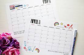 Free Download 2017 Weekly And Monthly Planner Printables Planners